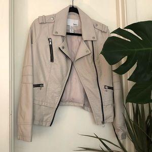Off-white pseudo-leather Moto Jacket